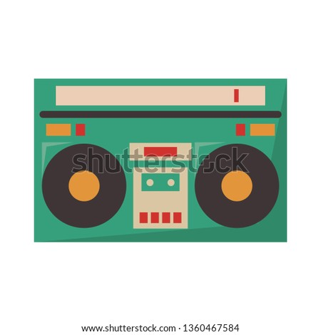 Old radio stereo cartoon