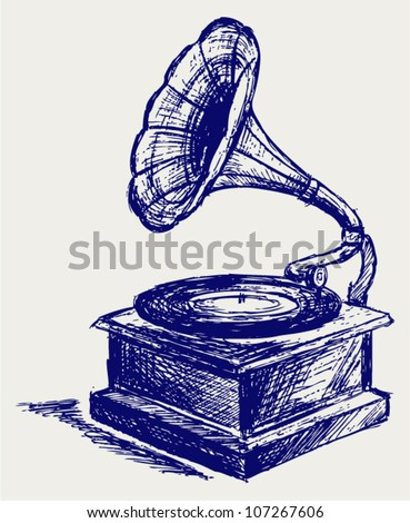 how to draw a phonograph