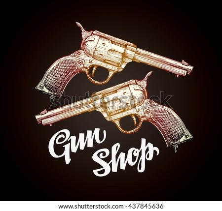 old revolver  handgun. gun shop....