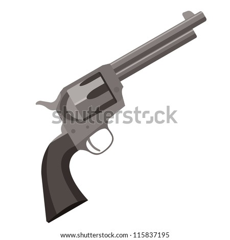 old revolver pistol