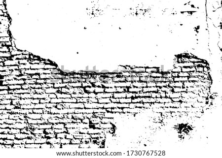 old ruined protect wall shabby