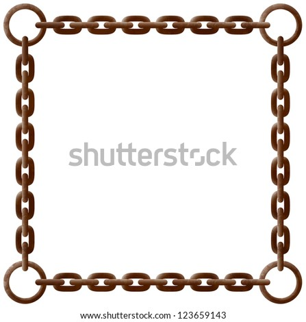 old rusty chain frame with