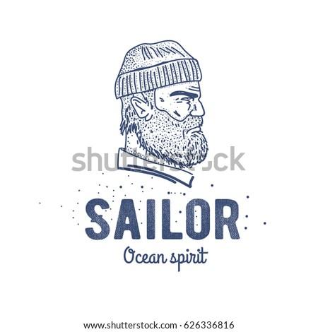 old sailor logo or label