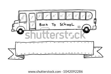 Old school bus sketch