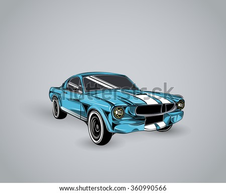 old school car muscle car
