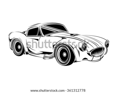 Royalty Free Old School Car Muscle Car Print For 360990560 Stock