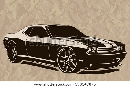 old school muscle cars inspired
