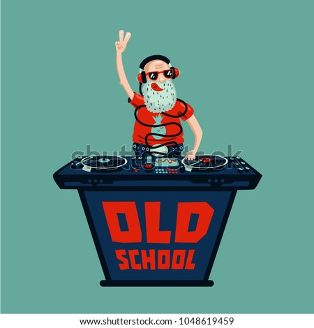 old school retro party senior