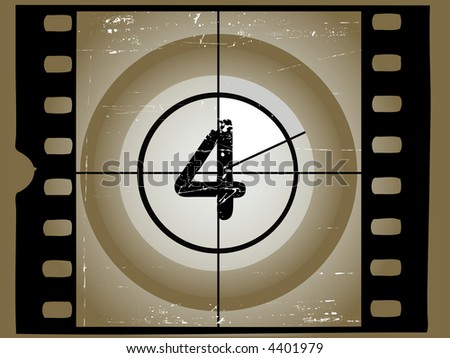 Old Scratched Film Countdown at No 4