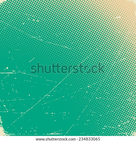 stock vector old scratched texture paper card with halftone gradient 234833065 - Каталог — Фотообои «Текстуры»