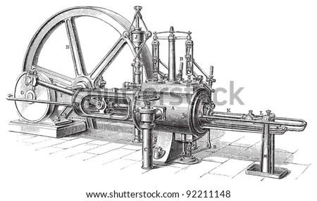 old steam machine   vintage...