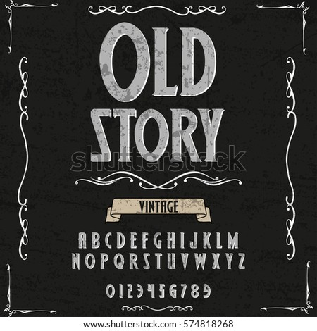 Old story handwritten handcrafted font vector script alphabet and vector design handwritten,brush,retro,old style design,vector letters,vintage,labels,illustration