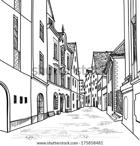 old street pedestrian street