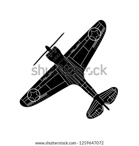 old stunt aeroplane isolated