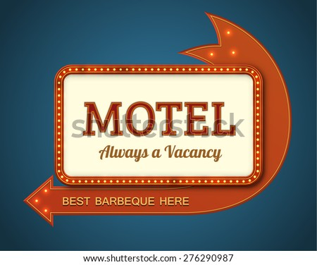 old style american motel road...