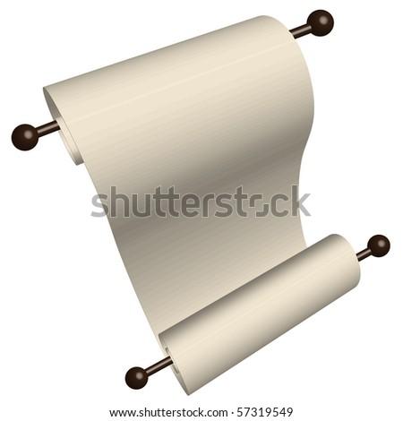 blank scroll paper. style lank paper scroll
