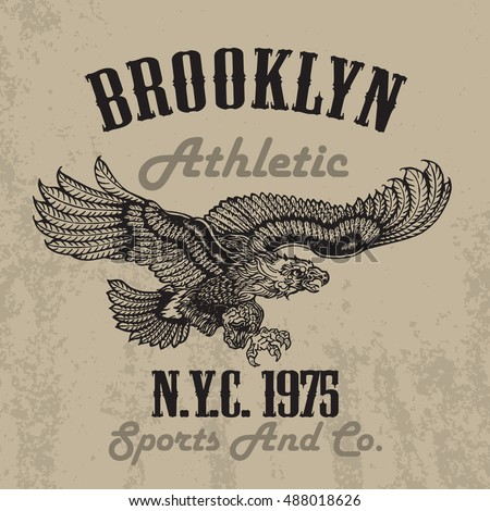 old style eagle sport tee shirt