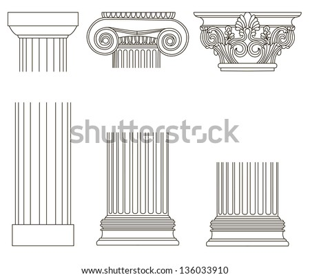 old-style greece column. eps10 vector illustration