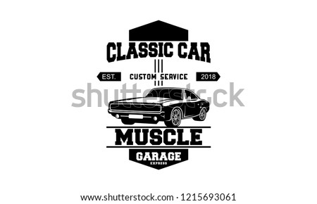 Muscle Car Club Badge Download Free Vector Art Stock Graphics