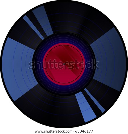 Old style vinyl record - stock vector