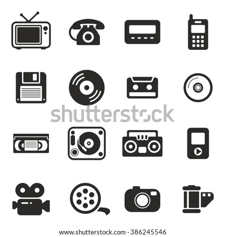 Old Technology Icons