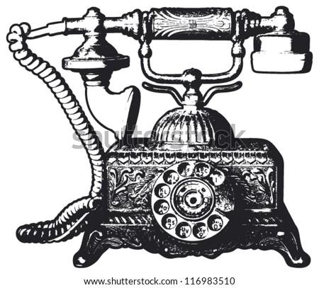 Free Vintage Telephone Vector Illustration