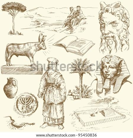old testament - moses - hand drawn set
