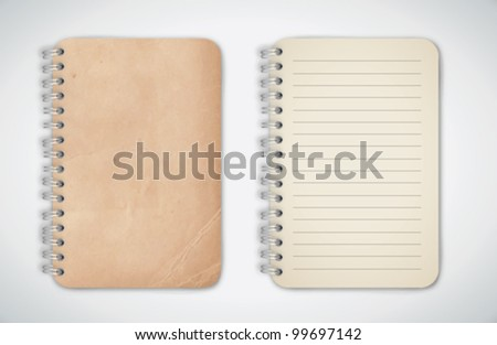 Old Texture Notebook Vector - stock vector