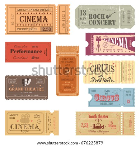old tickets for movie hall and
