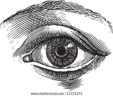 Old-time engraving of the Eye
