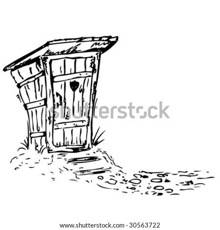 Old toilet-vector