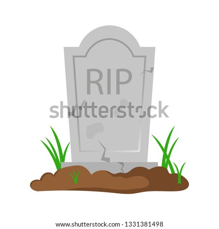 Old tombstone vector design illustration isolated on white background Stock photo ©