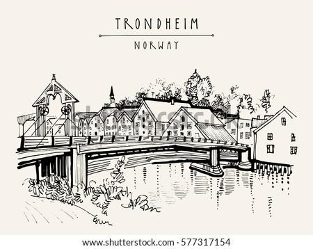 old town bridge  gamle bybro or