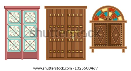 old traditional heritage icons in Arab gulf countries ( United Arab Emirates UAE  Saudi Arabia ksa  Bahrain  Kuwait Qatar and Oman )  Ramadan kareem isolated vector