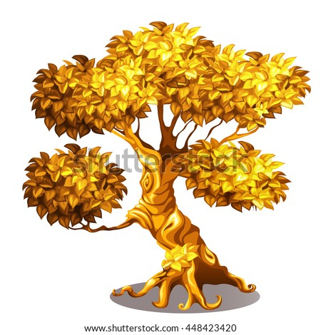 old tree made out of gold