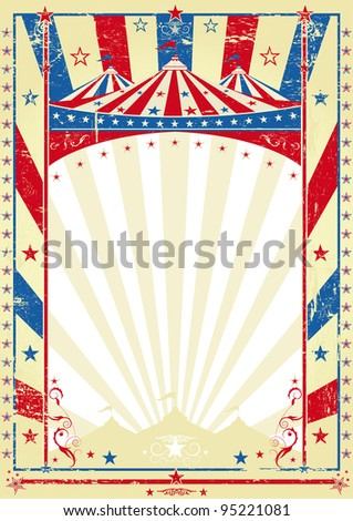 old tricolor poster big top. a circus vintage poster for your advertising