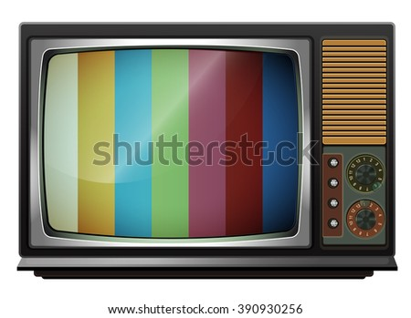old tv in cartoon style