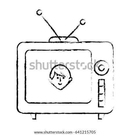 old tv retro icon
