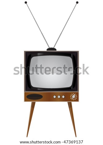 Old TV set - Vector illustration