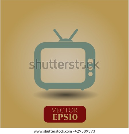 Old TV (Television) icon or symbol