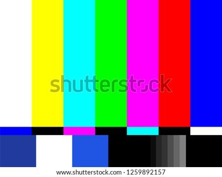 Old tv test screen. Retro no channel signal screensaver. Foto d'archivio ©