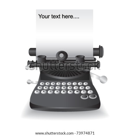 old typewriter with textspace