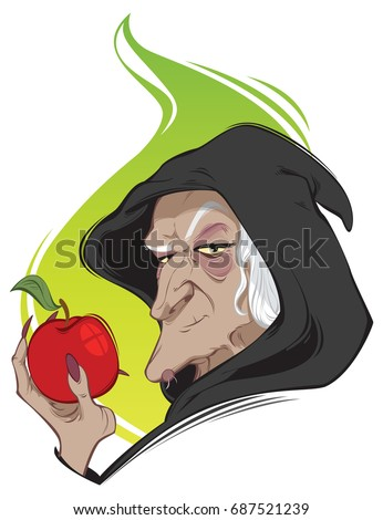 old ugly witch  vector