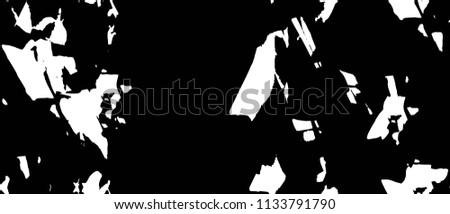 Old Ultrawide Grunge Seamless Black And White Texture. Dark Weathered Overlay Pattern Sample. Widescreen Background #1133791790