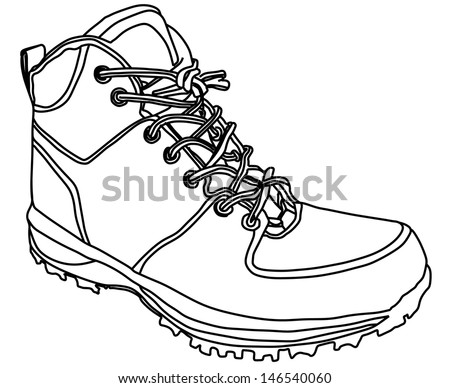 White Shoe Strings In Boots Symbol