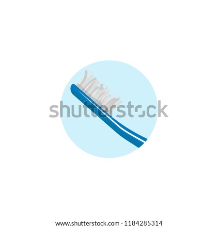 old used toothbrush icon illustration #1184285314