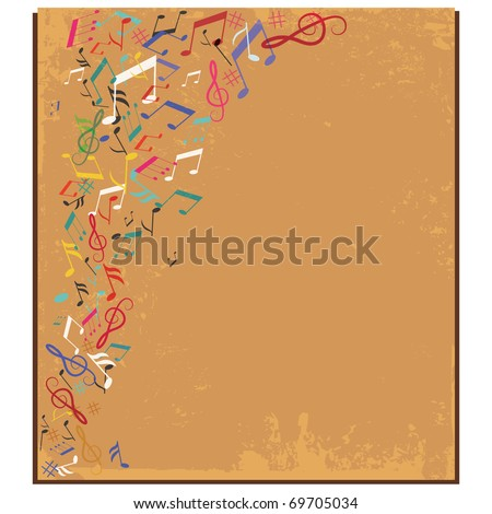 Wallpaper Borders on Wallpaper Border On Music Notes Wallpaper Border Musical Note Print