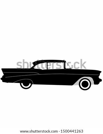 Old vintage american dream car 1957 chevy bel air Сток-фото ©