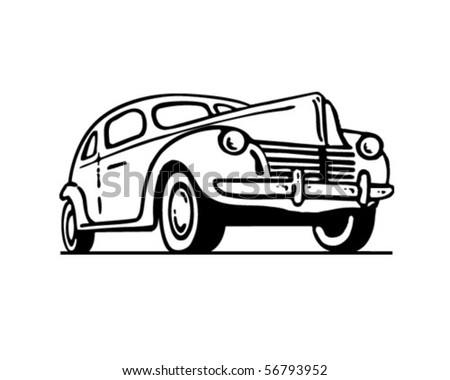 Old vintage car - stock vector