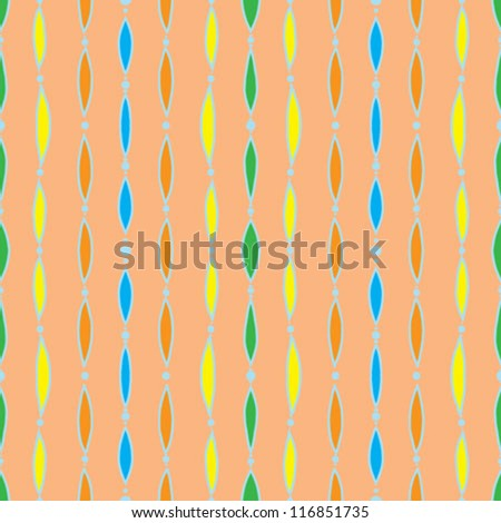 old vintage fabric, or textile; it is a seamless pattern background made with little grunge colorful strokes, very retro like from 70`s or 60`s and very crafty and homemade